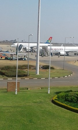 This is Kamuzu International Airport in Lilongwe, Malawi. Hired for  Airport Transfer to City Ce