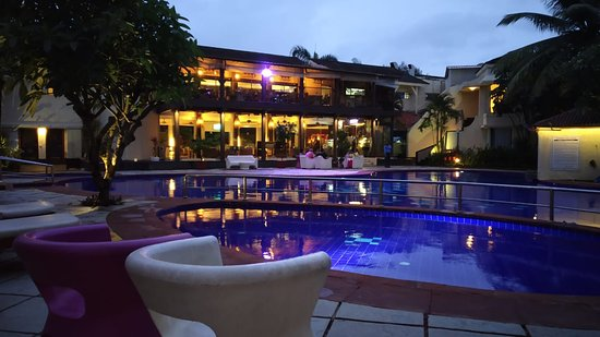 Pool Area Evening Picture Of Royal Orchid Beach Resort Spa Goa