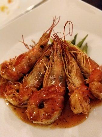 Ristorante LIN 林家小馆: Gamberoni e asparagi
