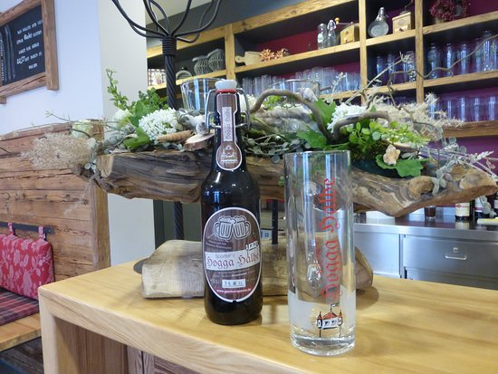 """Neunburg vorm Wald, Γερμανία: Unser Hauseigenes Bier, die """"Hogga-Halbe""""."""