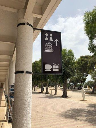 Carthage Museum: Placa de sinalização no Museu