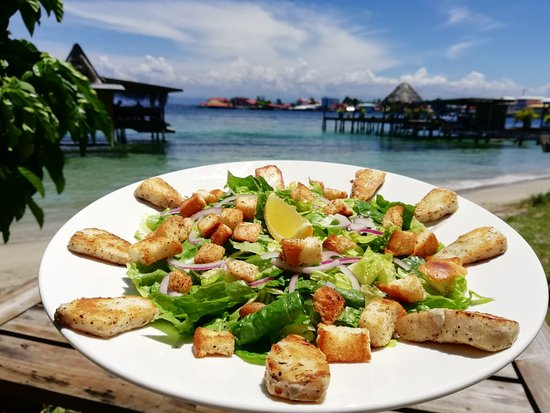 Carenero Island, Panamá: Caesar Salad with grilled Cobia