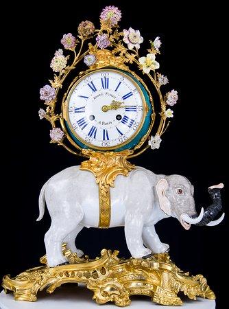 Catherine the Great's Porcelain Elephant Clock Meissen
