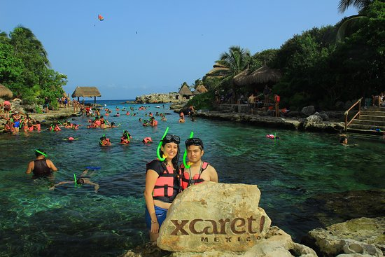 Xcaret, Mexico: snorkell