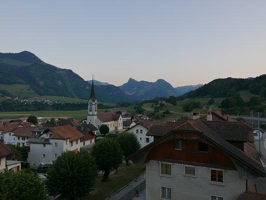 Albeuve, Switzerland: Ausblick Richtung Süden.