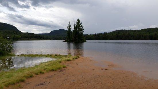 Mont-Tremblant National Park, Canada: Particolare del Lac Monroe con una delle numerose spiaggette nelle quali sostare e fare il bagno