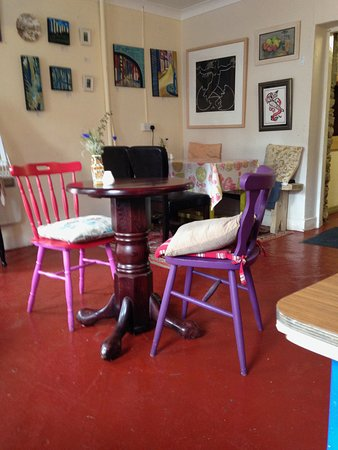Annascaul, Irlandia: the upstairs room on the cafe