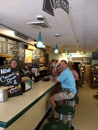 Brothers Brew Coffee Shop : Diner side -- where the locals sit.
