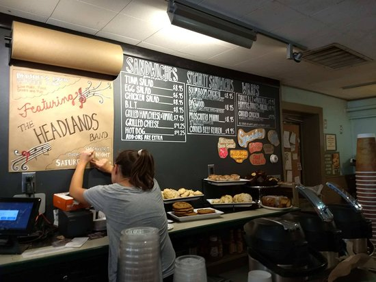 Brothers Brew Coffee Shop : Short but varied sandwich selection.