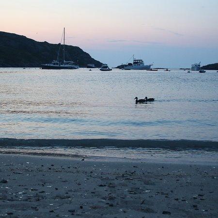 Beautiful beach, quaint island town