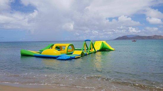 Frigate Bay, St. Kitts: Ocean's Beach Bar Lounge and Aqua Park, St. Kitts