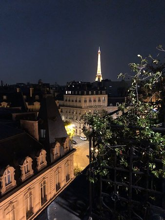 Night Time View Of Eiffel Tower From Balcony Picture Of Hotel San Regis Paris Tripadvisor