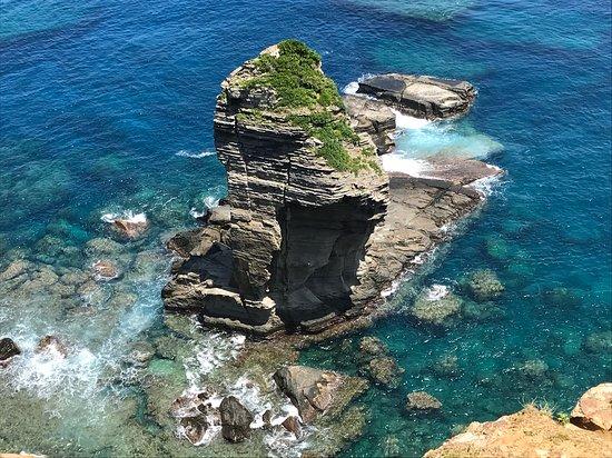 与那国町, 沖縄県, 立神岩を真上から