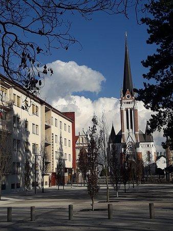 Мурска-Собота, Словения: Neo-Gothic Evangelical Church (Evangeličanska cerkev) in Murska Sobota, Slovenia.