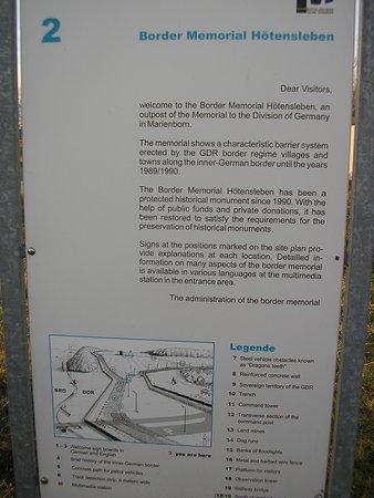 Hoetensleben, Allemagne: border memorial