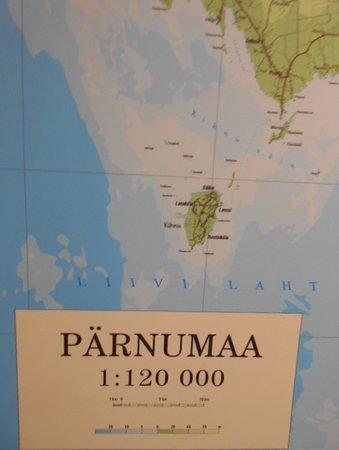 Landskapskartan där ön KIHNU intar en kultursärställning !!
