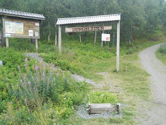 Хемаван, Швеция: Start of Swedens most famous hiking trail; Kungsleden.
