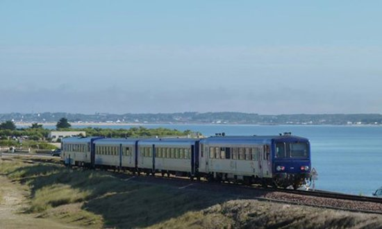 Quiberon, France : train