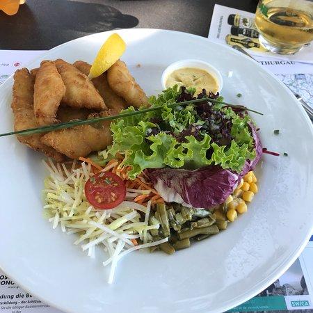 Altnau, Sveits: Gutes bürgerliches Mittagessen an toller Location! Es war sehr fein und das Essen ist preiswert.