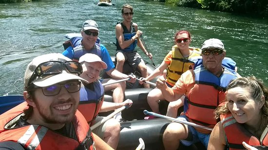 River and Earth Adventures, Inc: Our family of 4 bonding time with guide Noah and two others