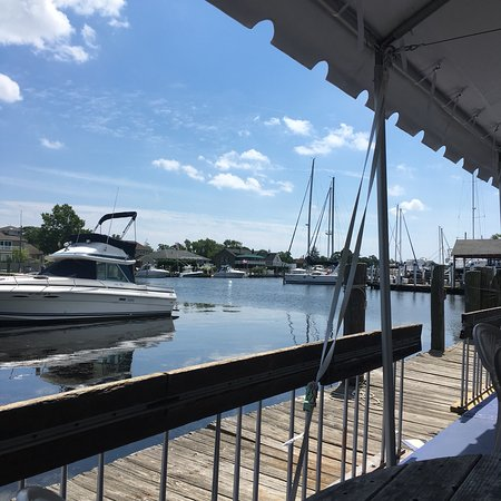 Islip, NY: A summers day on the Dock at white Cap