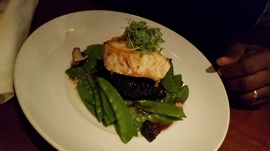 Seasons 52: Sea Bass with Black Rice