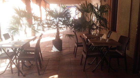 Mazeres, Frankrike: Terrasse