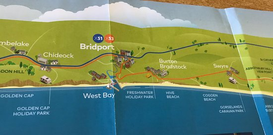 Burton Bradstock, UK: Hive Beach Map