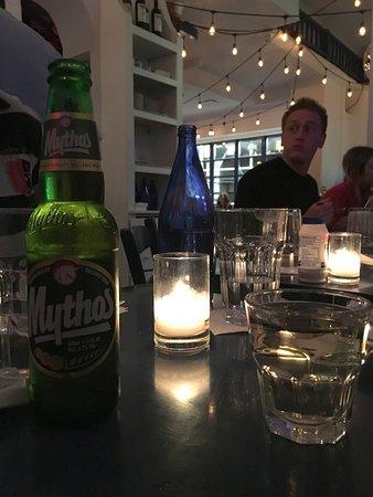 dentro e cerveja grega