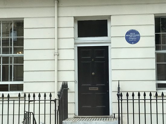 London Black Taxi Tours: Felix Mendelssohn stayed here