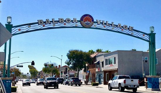 Balboa Village Welcome Sign