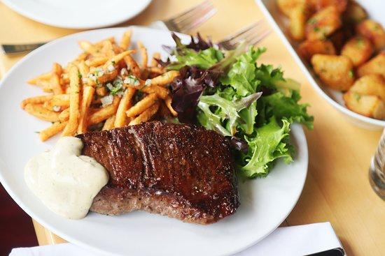 Bryn Mawr, PA: NY Strip Steak, Tarragon Black Pepper Aioli, Herb Frites, Spring Salad