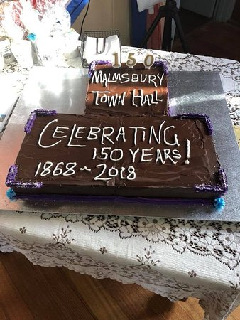 Malmsbury Town Hall 150th cake celebration supplied by Malmsbury bakery