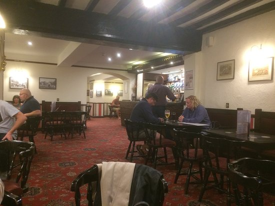 Appleby Magna, UK: View to bar.