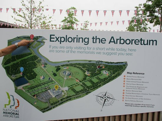 National Memorial Arboretum Map map   Picture of National Memorial Arboretum, Alrewas   TripAdvisor