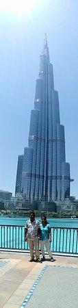 Dubai City Tour: At Burj Khalifa in the backdrop