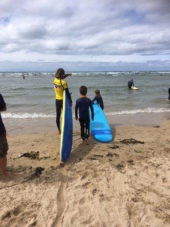 Kingsurf Surf School: Some useful advice from Luke before venturing forth!