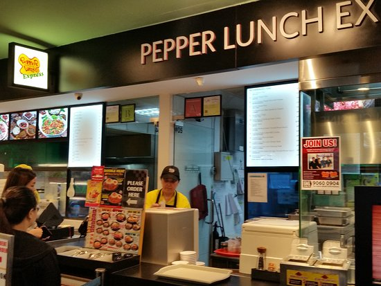 Counter Picture Of Pepper Lunch Express Bugis Junction Singapore Tripadvisor