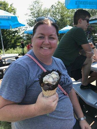 Waterbury, Vermont: My ice cream! So delicious!