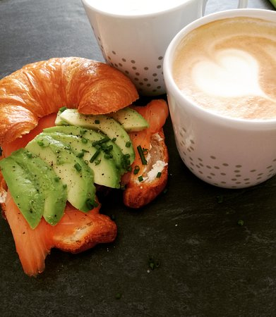 Salmon and Avocado Croissant