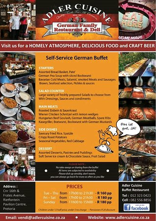 Self Service German Buffet Picture Of Das Gasthaus