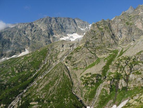 Groscavallo, Itália: Vista sul bacino Mulinet - Monfret