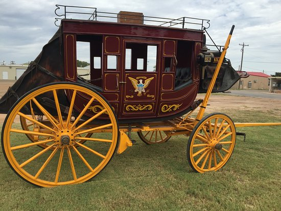 Shamrock, TX: Come see our real Texas stagecoach