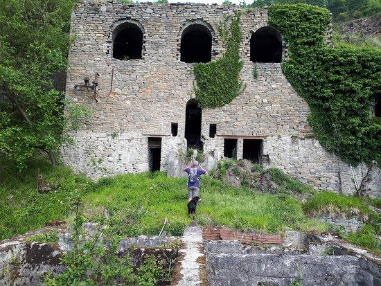 Aywaille, Belgique : Industriële archeologie: gebouwen van de groeve.