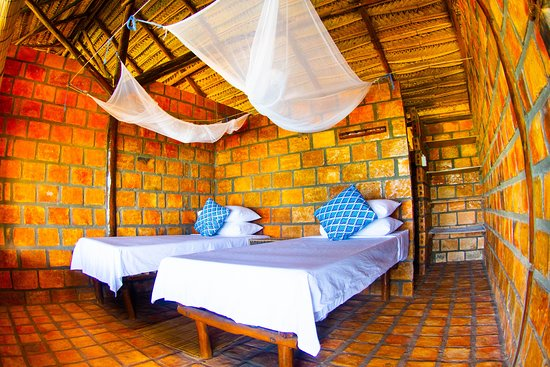 Inhambane Province, Mozambique: A twin room in one of our Casas.