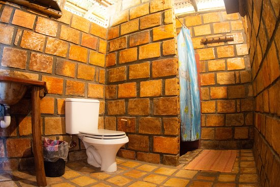 Provinsen Inhambane, Mocambique: The bathroom in one of our Casas