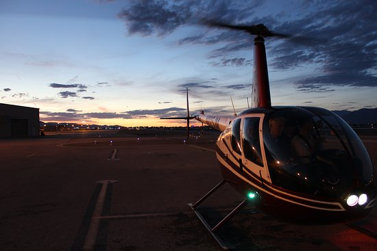 Airwork Las Vegas: The R44 Helicopter during Twilight