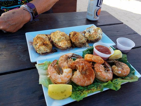 Long Neck, DE: Seafood Stuffed Potato Skins and Half Pound Steamed Shrimp