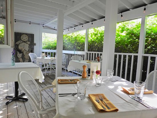 Brooksville, ME: Be sure to ask for a table on our screened-in porch...weather permitting!