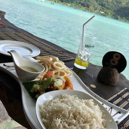 Anse La Mouche, Seyşeller: Astonishing view from the table / bar